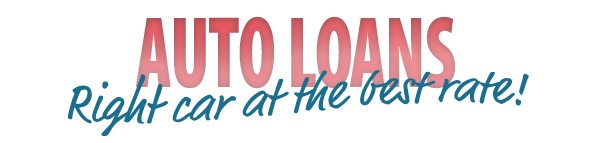 """Red """"auto loans"""" banner"""