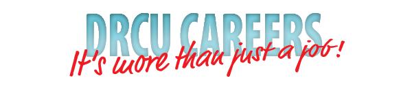 "Blue ""DRCU careers"" banner"