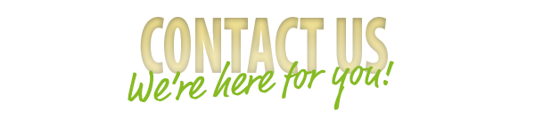"""Gold """"contact us"""" banner"""