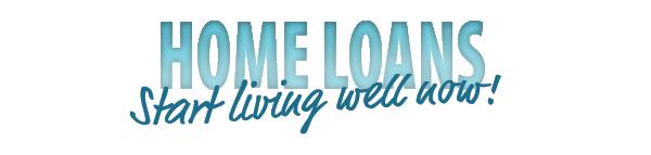 "Blue ""home loans"" banner"