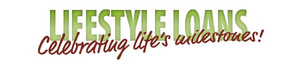 "Green ""lifestyle loans"" banner"