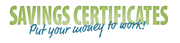 "Green ""savings certificates"" banner"
