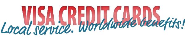 """Red """"VISA Credit Cards"""" banner"""